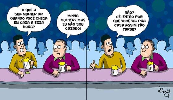 Pra quem acha que não, casados também vivem! ;)