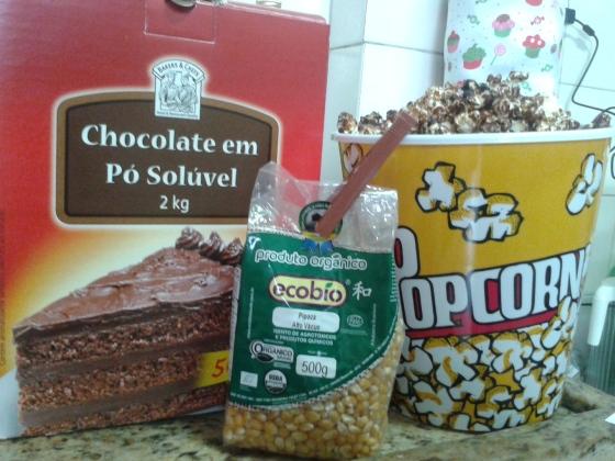 E ainda com chocolate 50% cacau e açúcar não-refinado orgânico.